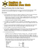 Honey Selling Program – 20180928
